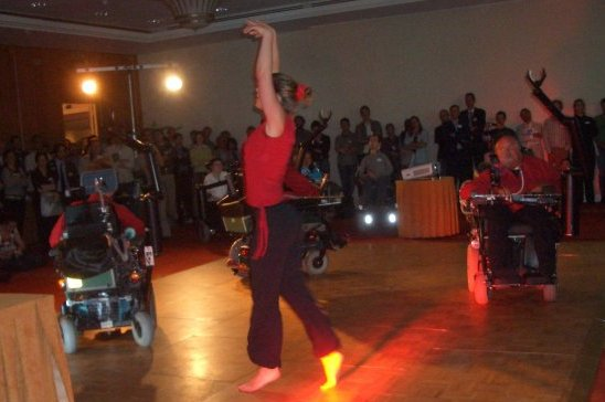 Dance by rehabilitation robot users in ICORR2007